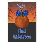 Primer Halloween del bebé Felicitaciones