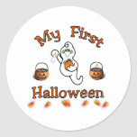 Primer Halloween del bebé Pegatinas Redondas