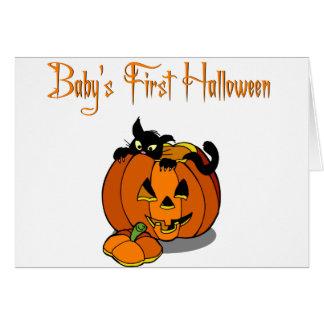 Primer Halloween del bebé Tarjetas