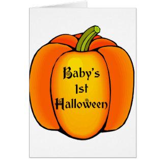 Primer Halloween del bebé Tarjetón