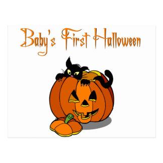 Primer Halloween del bebé Tarjeta Postal