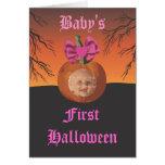 Primer Halloween del bebé Tarjeton