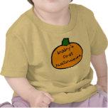 Primer Halloween Punkin - amarillo del bebé Camisetas