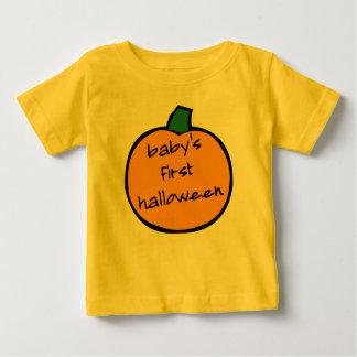 Primer Halloween Punkin - amarillo del bebé Playera