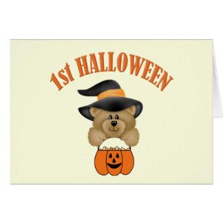 Primer Halloween Tarjeta De Felicitación