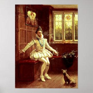 Primer humo de sir Walter Raleigh Póster