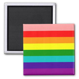 Primer imán de la bandera del orgullo gay del arco