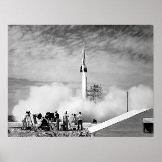 """Primer lanzamiento de Rocket, Cabo Cañaveral, """"par Posters"""