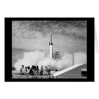 """Primer lanzamiento de Rocket, Cabo Cañaveral, """"par Tarjeta De Felicitación"""