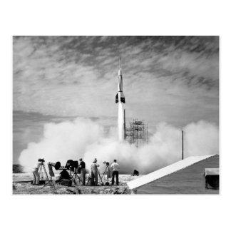 """Primer lanzamiento de Rocket, Cabo Cañaveral, """"par Postal"""