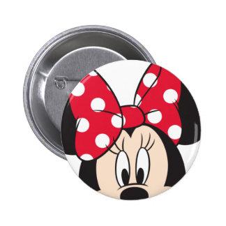 Primer lindo rojo de Minnie el | Pin Redondo De 2 Pulgadas