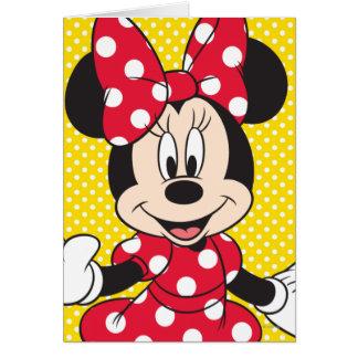 Primer lindo rojo de Minnie el | Tarjeta De Felicitación