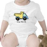 Primer mes del camión volquete traje de bebé