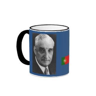 Primer ministro Antonio Salazar de Portugal Taza A Dos Colores