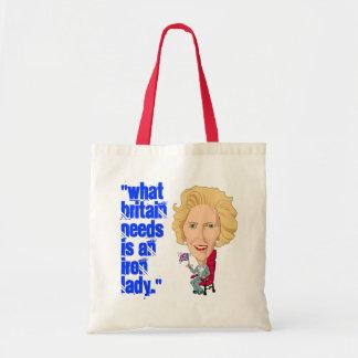 Primer ministro británico anterior dama de hierro  bolsa tela barata