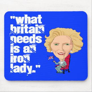 Primer ministro británico anterior dama de hierro  alfombrilla de ratones