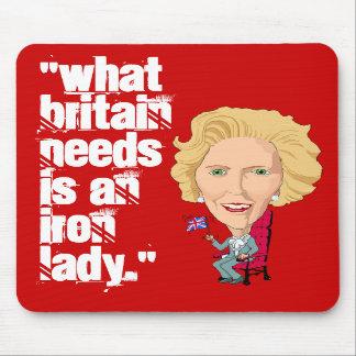 Primer ministro británico anterior dama de hierro alfombrillas de ratón