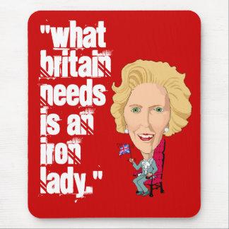 Primer ministro británico anterior dama de hierro alfombrilla de ratón