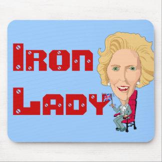 Primer ministro británico anterior dama de hierro alfombrillas de ratones