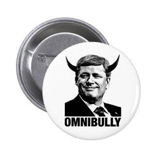 Primer ministro canadiense Stephen Harper - Omnibu Pin Redondo 5 Cm
