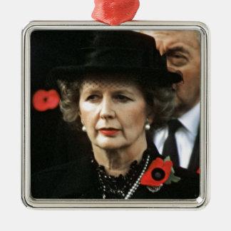 Primer ministro de Margaret Thatcher Adorno Navideño Cuadrado De Metal