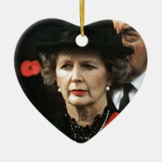 Primer ministro de Margaret Thatcher Adorno Navideño De Cerámica En Forma De Corazón