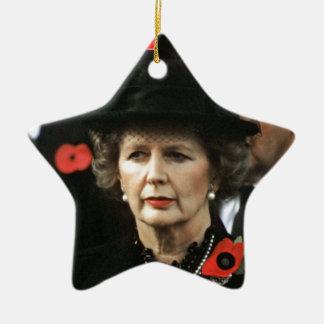 Primer ministro de Margaret Thatcher Adorno Navideño De Cerámica En Forma De Estrella