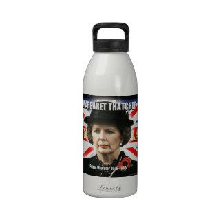 Primer ministro de Margaret Thatcher Botella De Agua Reutilizable