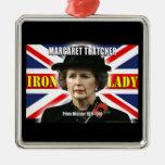 Primer ministro de Margaret Thatcher Ornamentos De Navidad