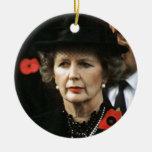 Primer ministro de Margaret Thatcher Adorno Redondo De Cerámica