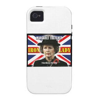 Primer ministro de Margaret Thatcher Case-Mate iPhone 4 Fundas