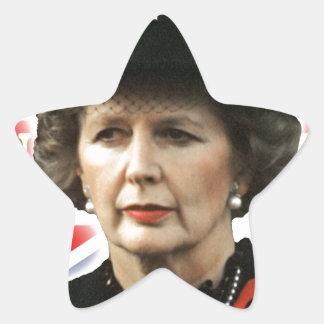 Primer ministro de Margaret Thatcher Pegatina Forma De Estrella