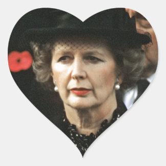 Primer ministro de Margaret Thatcher Calcomanía De Corazón