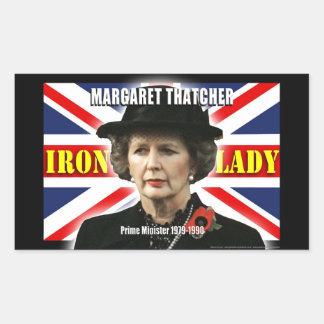 Primer ministro de Margaret Thatcher Rectangular Pegatina