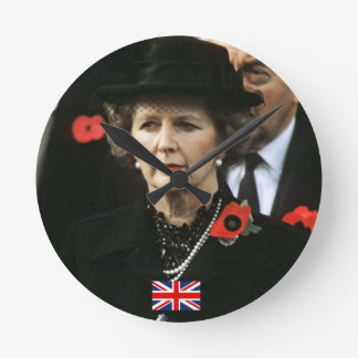 Primer ministro de Margaret Thatcher Reloj Redondo Mediano