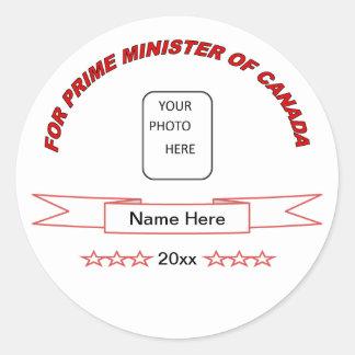 Primer ministro divertido del pegatina de Canadá