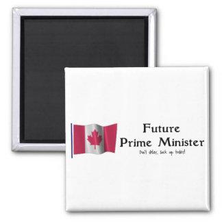 Primer ministro futuro imán cuadrado