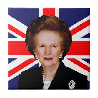 Primer ministro Margaret Thatcher Azulejo Cuadrado Pequeño