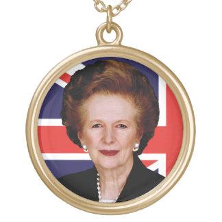 Primer ministro Margaret Thatcher Colgante Redondo
