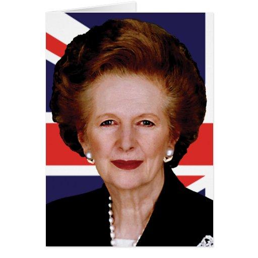 Primer ministro Margaret Thatcher - la dama de hie Tarjetón