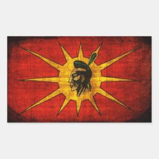 Primer Mohawk de la nación Pegatina Rectangular