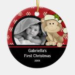 Primer mono del ornamento de la foto del navidad d ornamentos de reyes