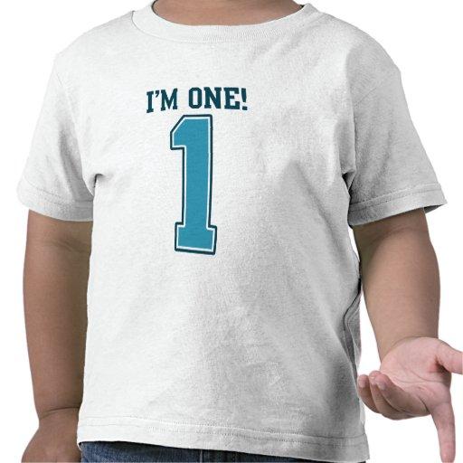 Primer muchacho del cumpleaños, soy uno, número az camisetas