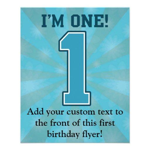 """Primer muchacho del cumpleaños, soy uno, número folleto 4.5"""" x 5.6"""""""