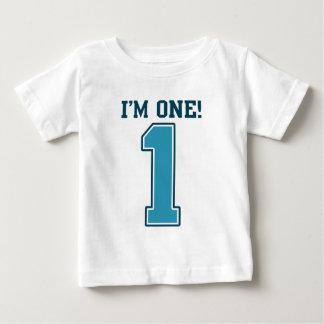Primer muchacho del cumpleaños, soy uno, número playera de bebé