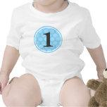 Primer muchacho número 1 del cumpleaños del lunar  camisetas