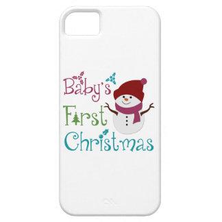 Primer navidad adorable de Babys iPhone 5 Case-Mate Protector