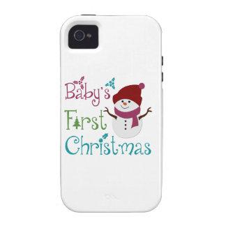 Primer navidad adorable de Babys iPhone 4/4S Carcasas