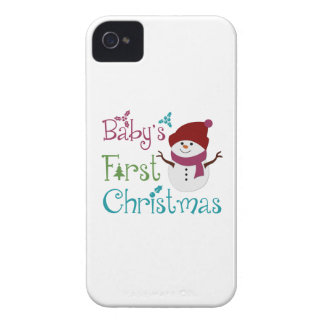Primer navidad adorable de Babys iPhone 4 Protectores