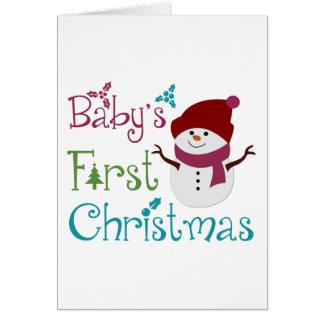 Primer navidad adorable de Babys Tarjeta De Felicitación